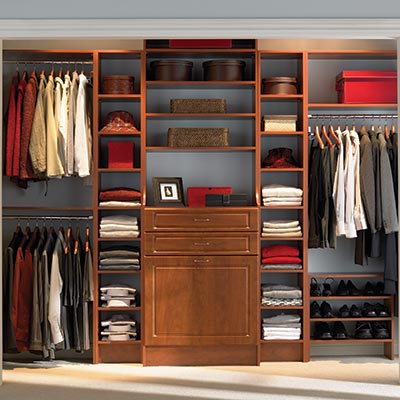 wood closet system
